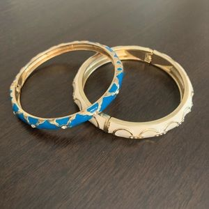 Beautiful blue and white bracelets/bangles